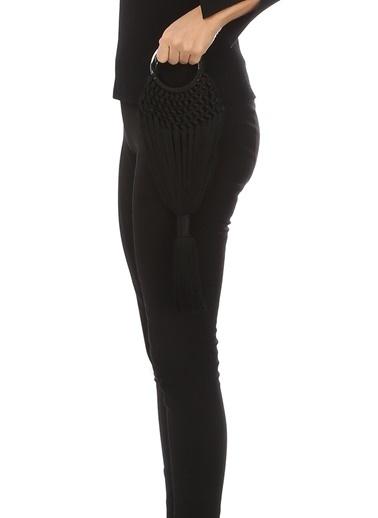 Cult Gaia Cult Gaia Angelou Mini  Püsküllü Kadın El Çantası 101353910 Siyah